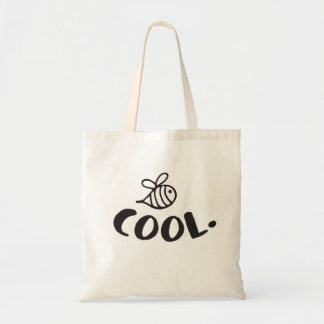 Bee Cool Positivity Humor Tote Bag