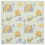 Bee Dance Floral Fabric 2