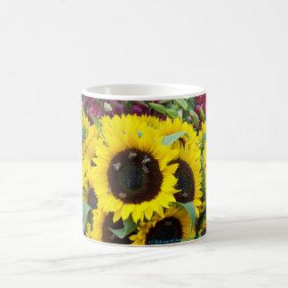 Bee Dance on a Sunflower Day Coffee Mug