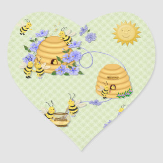 Bee Dance Party Heart Sticker