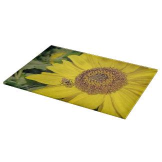 Bee-Dazzled Sunflower Cutting Board