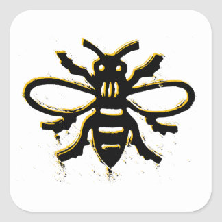 Bee design square sticker