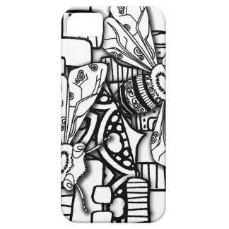 Bee Doodles Case For The iPhone 5