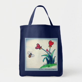 Bee & Flower, Grocery Tote