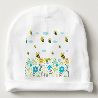 Bee Flying Baby Beanie