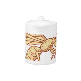Bee Flying Mono Line
