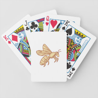 Bee Flying Mono Line Bicycle Playing Cards