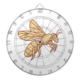 Bee Flying Mono Line Dartboard