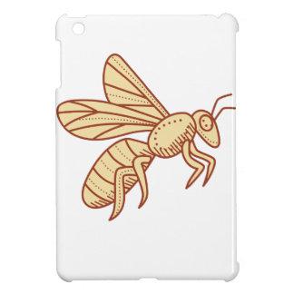 Bee Flying Mono Line iPad Mini Cases