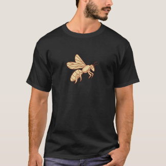 Bee Flying Mono Line T-Shirt