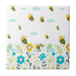 Bee Flying Tile