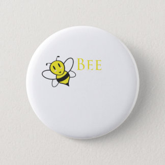 Bee Free Inspirational Design 2 Inch Round Button