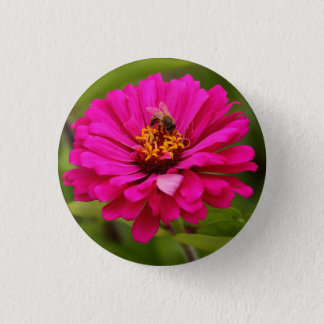Bee Gathering Nectar on a Zinnia - Pin