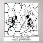 Bee Geometry Poster