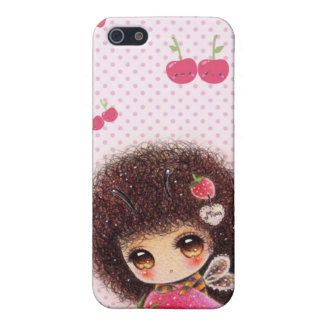 Bee girl with kawaii strawberry case for iPhone 5/5S