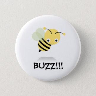 Bee go Buzz 2 Inch Round Button