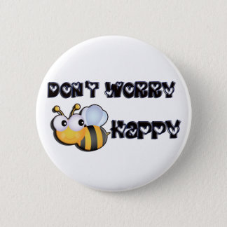 Bee Happy 2 Inch Round Button
