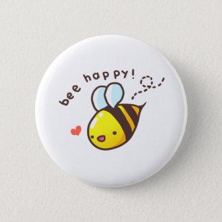 Bee Happy! 2 Inch Round Button