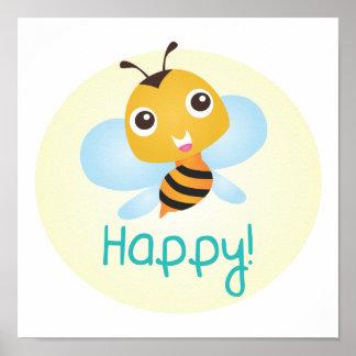 Bee Happy Baby Print