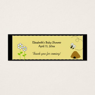 BEE HAPPY BUMBLE BEE Shower / Birthday Favor Tag