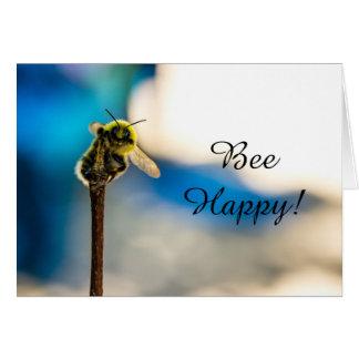 Bee Happy Bumblebee Blank Greeting Card