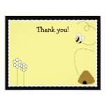 "Bee Happy Bumblebee *Matte Finish* Thank you card 4.25"" X 5.5"" Invitation Card"