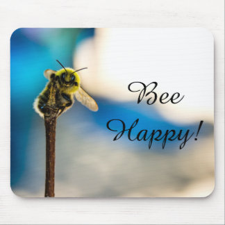 Bee Happy Bumblebee Mousepad