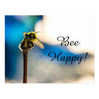Bee Happy Bumblebee Postcard