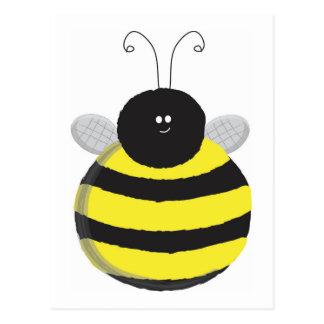 Bee Happy Chubby cute bee Postcard