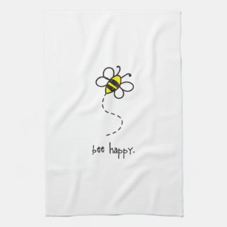 bee happy kitchen towel. towel