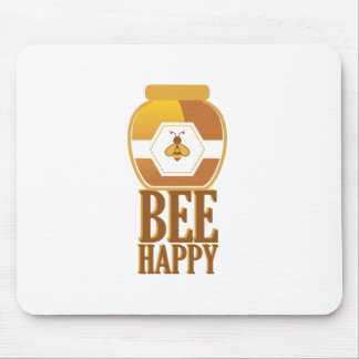 Bee Happy Mouse Pad