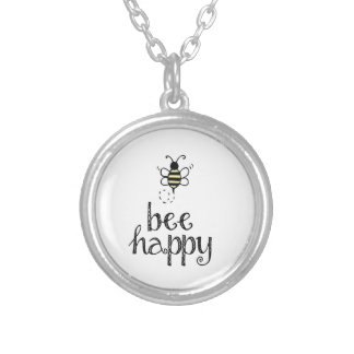Bee Happy Silver Plated Necklace