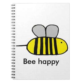 Bee happy spiral note book
