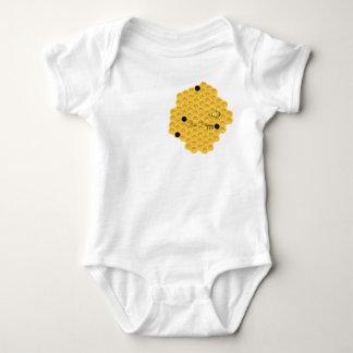 Bee Happy & The Honeycomb Baby Bodysuit