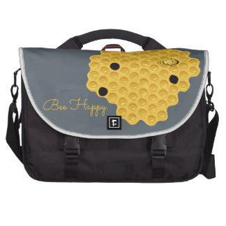Bee Happy & The Honeycomb Laptop Messenger Bag