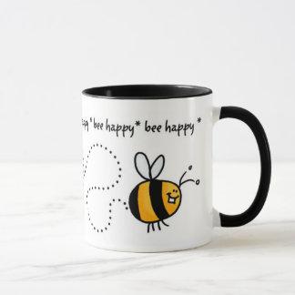 bee happy trail mug