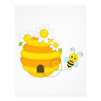 Bee Hive Custom Letterhead