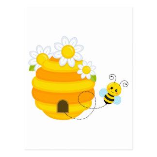 Bee Hive Postcard