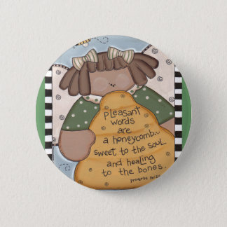 Bee Hive Wisdom 2 Inch Round Button