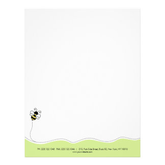 Bee / honey bee / bumble bee custom letterhead