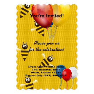 "Bee Honey Comb Shower Party Birthday Celebration 5"" X 7"" Invitation Card"