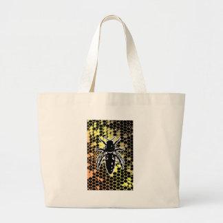 Bee Honeycomb Geometrical Large Tote Bag