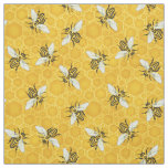 Bee Honeycomb Honeybee Beehive Pattern Cute Nature Fabric