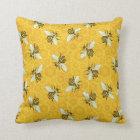 Bee Honeycomb Honeybee Beehive Pattern Cute Nature Throw Pillow