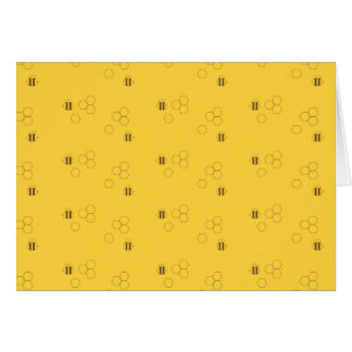 Bee Honeycomb Pattern Card