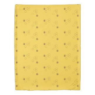 Bee Honeycomb Pattern Duvet Cover