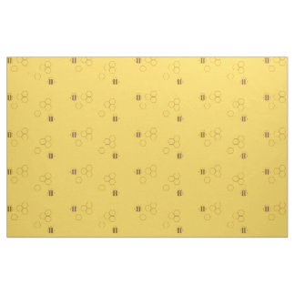 Bee Honeycomb Pattern Fabric