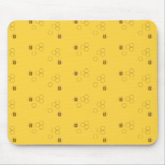 Bee Honeycomb Pattern Mouse Pad