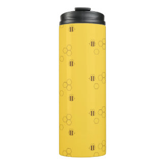 Bee Honeycomb Pattern Thermal Tumbler