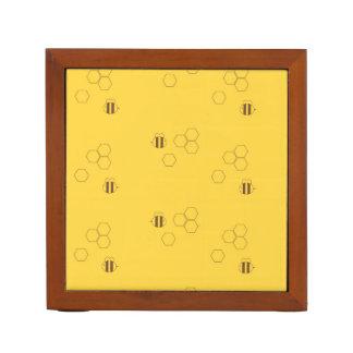 Bee Honeycomb Print Desk Organizer